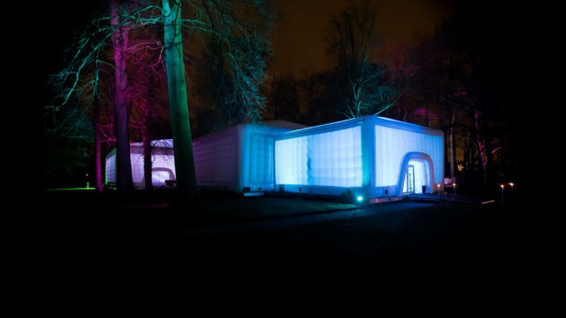 Cubes lit up for Nikkie Plessen Autumn Winter Collection Launch in the Netherlands