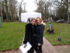 Nikkie Plessen and Lucy Stevenson from Waterland Event Hire